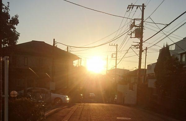 年末の夕日